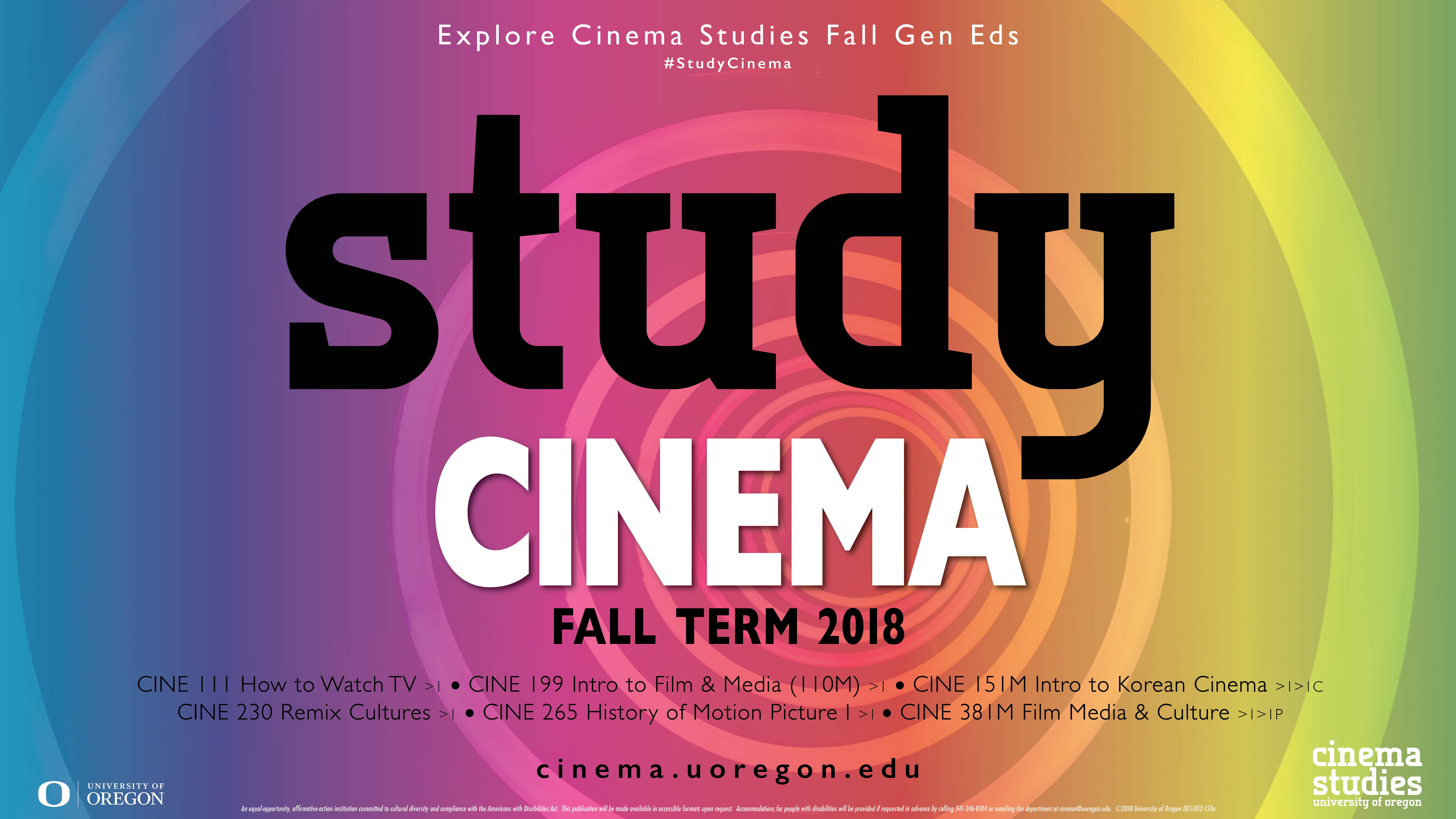 Fall Cinema Studies Course Poster