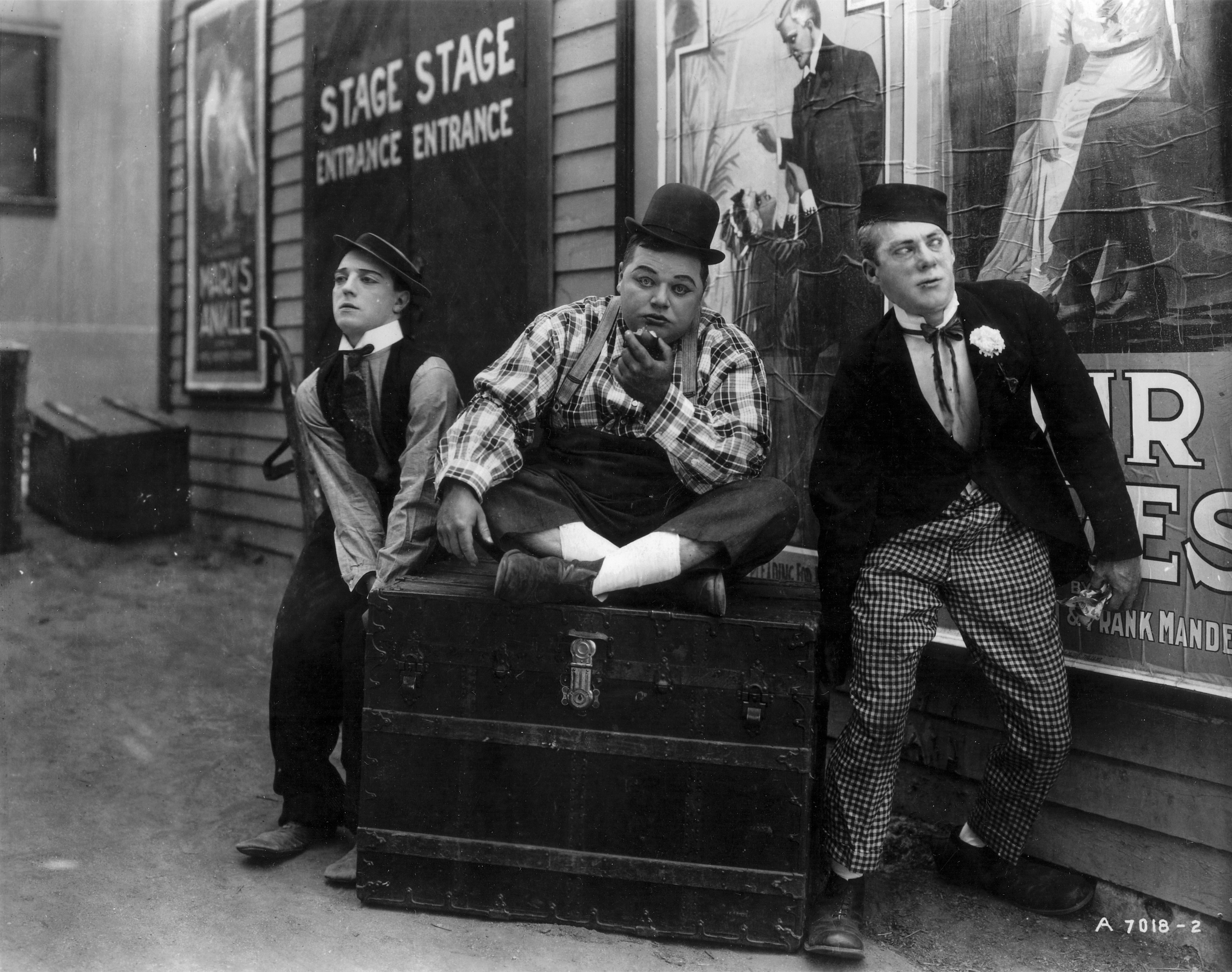 Photo of Buster Keaton, Fatty Arbuckle, and Al St. John, Photo Courtesy Orange County Archives, Licensed under CC BY 2.0