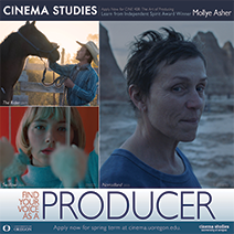 Deadline extended to Apply for CINE 408: The Art of Producing with Producer Mollye Asher