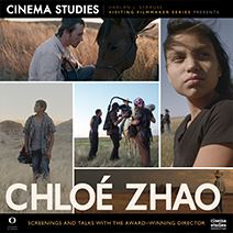 Poster for the Visiting Filmmaker Series with Chloe Zhao