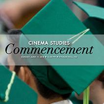 Cinema Studies Commencement Photo