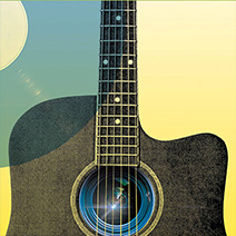 Guitar illustration from Eugene Film Society 72-Hour Music Video Competition poster