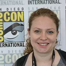 Photo of Assistant Professor Erin Hanna at 2017 Comic-Con