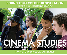 Cinema Studies Spring 2018 Course Poster