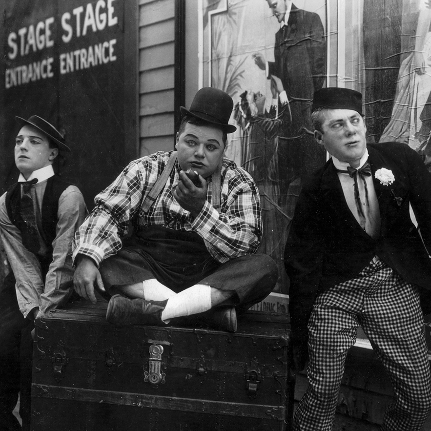 Buster Keaton, Fatty Arbuckle, and Al St. John