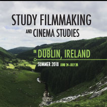 Study filmmaking and cinema studies promotional poster