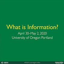 What is Information? Conference