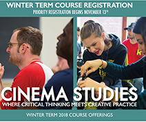 Cinema Studies Winter Term 2018 course Poster
