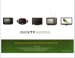Duck TV Auditions