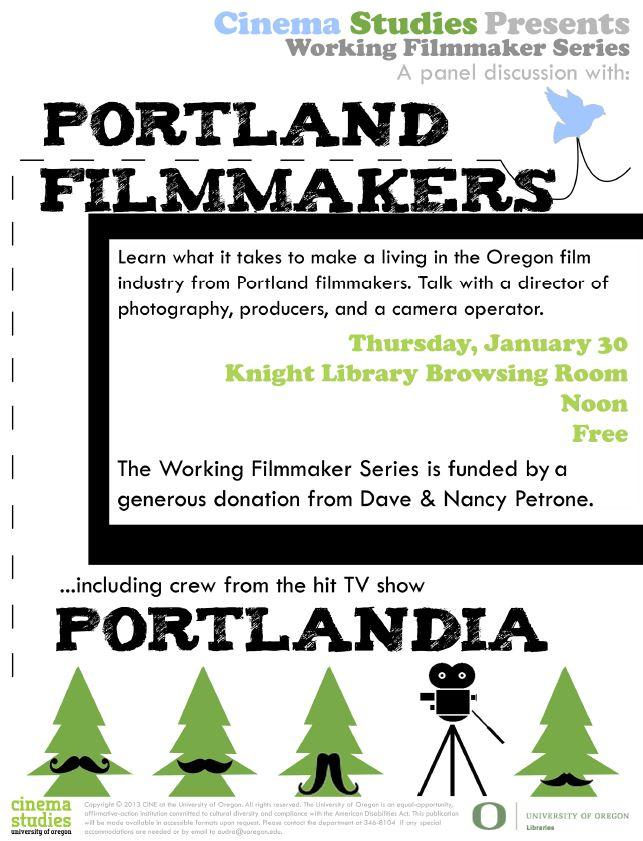 working filmmaker series presents portland film. Black Bedroom Furniture Sets. Home Design Ideas