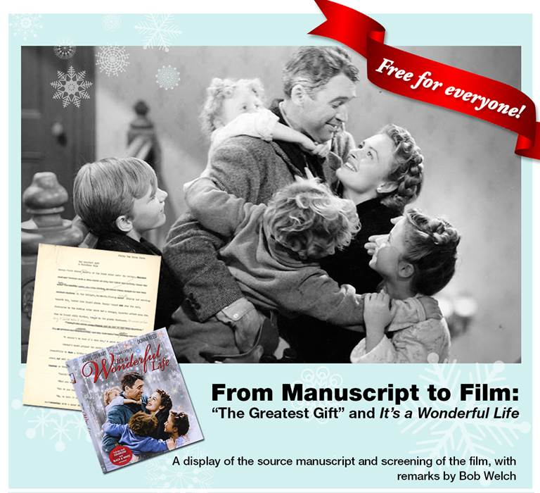 From Manuscript To Film The Greatest Gift And It S A Wonderful Life Cinema Studies