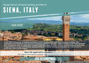 Siena Italy Study Abroad May 20 Deadline