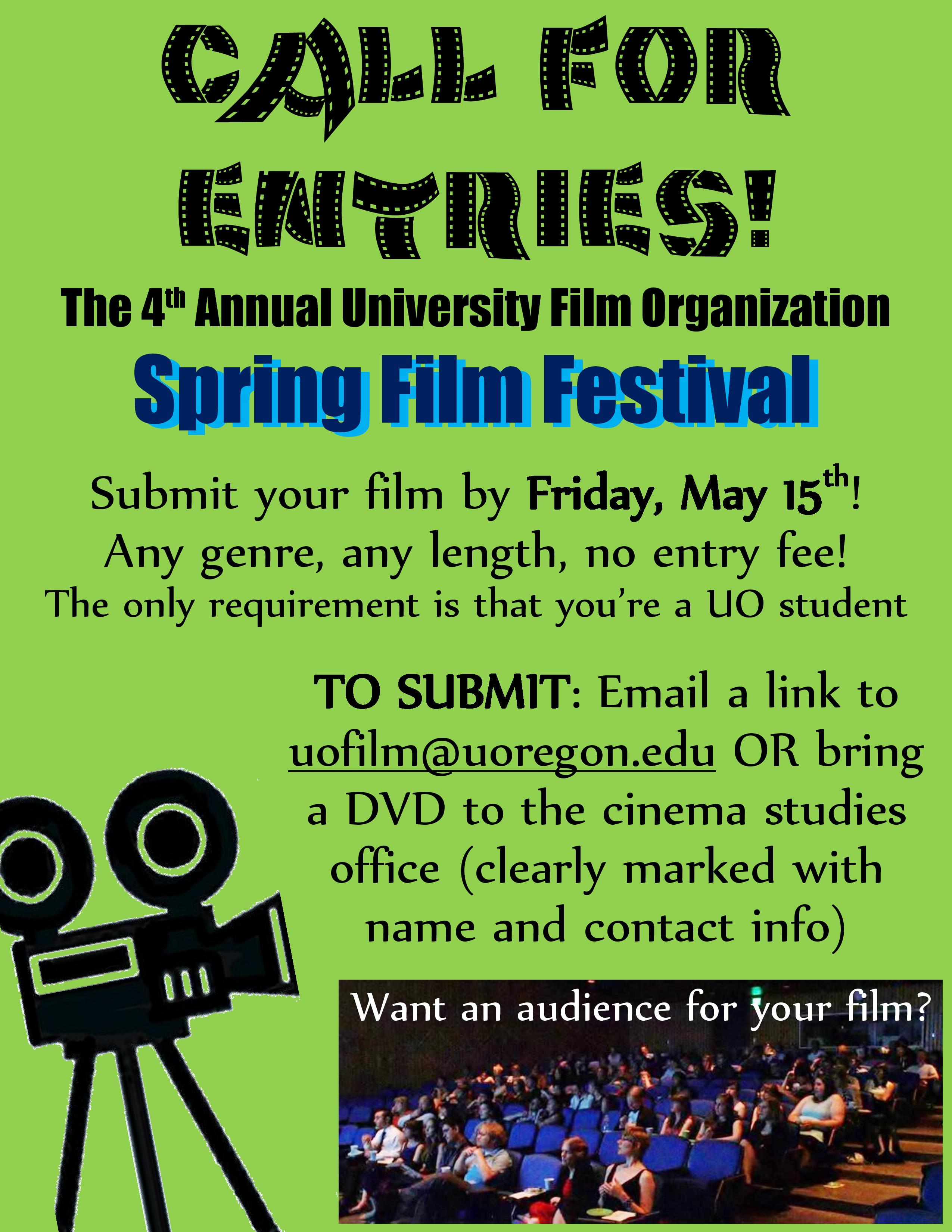 UFO Call For Entries Poster