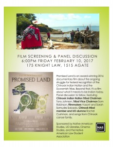 Poster for screening of Promised Land